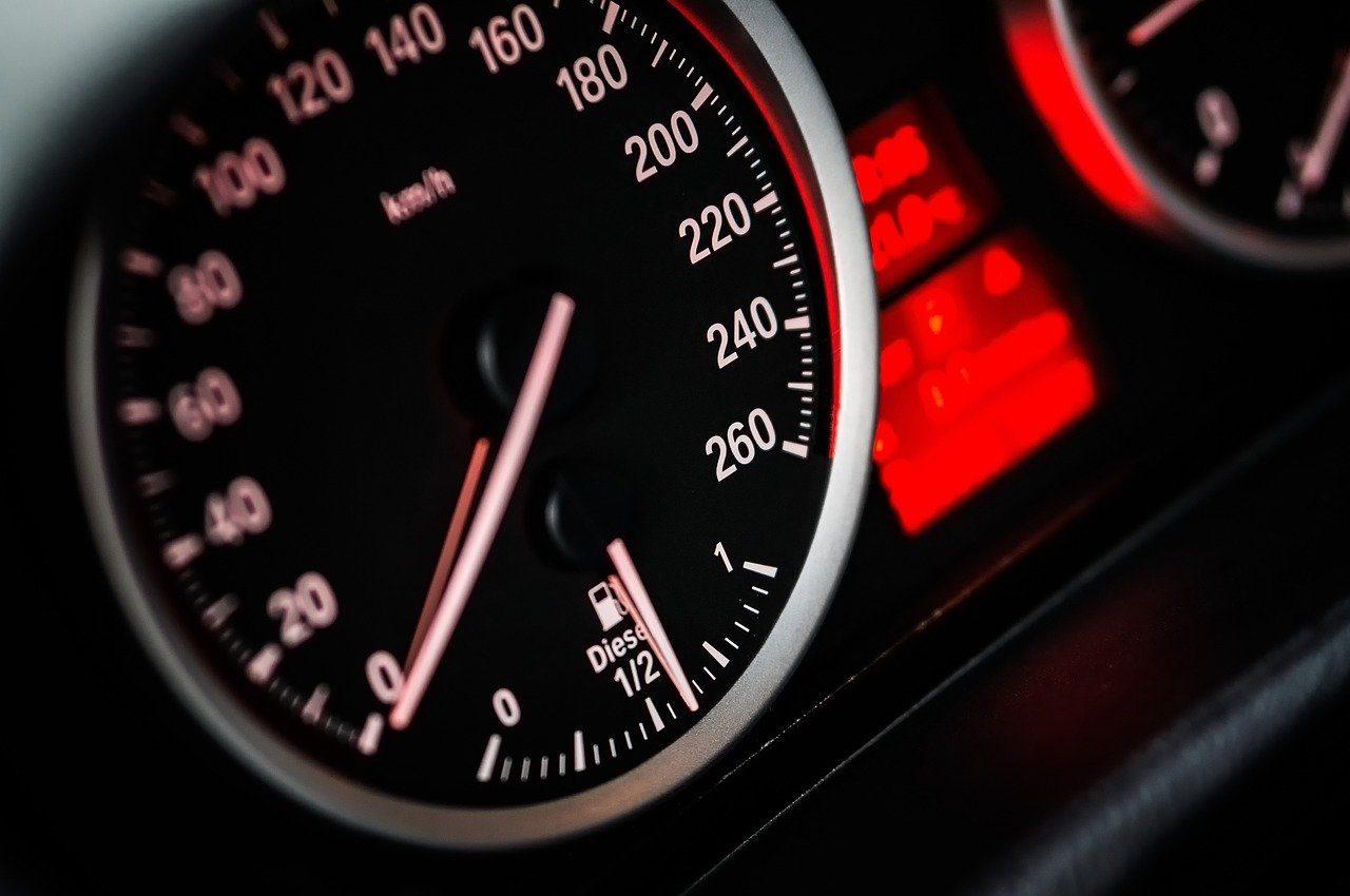 speedometer, dashboard, car